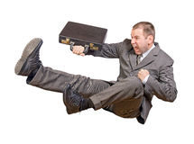biznesmen skacze Obrazy Stock