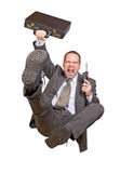 biznesmen skacze Zdjęcia Stock