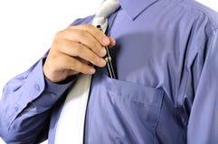 Biznesmen Stawia Jego pióro W Jego kieszeń zdjęcie royalty free