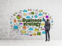 Biznesmen strategii biznesowej rysunkowe ikony Zdjęcia Stock