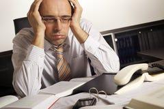 biznesmen stresujący się obrazy stock