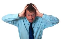 biznesmen stresujący się Zdjęcie Stock