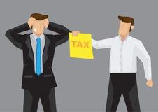 Biznesmen Stresujący się Out podatku mężczyzna kreskówki Wektorową ilustracją Obraz Royalty Free