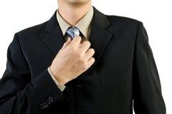 Biznesmen target417_1_ krawat Zdjęcia Stock