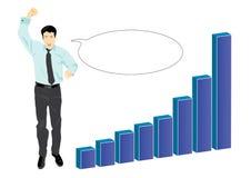 biznesmen target701_1_ jego sukces Zdjęcie Stock