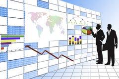 Biznesmen technologia cyfrowa. Obraz Stock