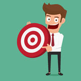 Biznesmen trzyma dużego cel Obraz Stock