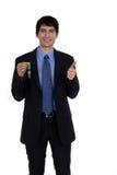 Biznesmen trzyma klucz Obraz Stock