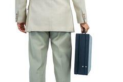 Biznesmen trzyma teczkę Obraz Royalty Free
