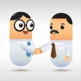 biznesmen uścisnąć ręki ilustracja wektor