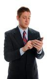 Biznesmen Używać Smartphone Fotografia Royalty Free