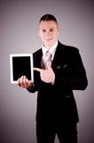 Biznesmen używa pastylka komputer osobistego. Zdjęcie Royalty Free
