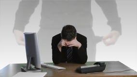 Biznesmen udaremniający o pieniężnej szkodzie zbiory