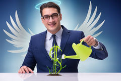 Biznesmen w anioła inwestora pojęcia narastającej przyszłości zyskuje Obraz Royalty Free