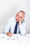 Biznesmen w biurze zdjęcie stock