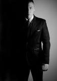 Biznesmen w czarny i biały Obrazy Royalty Free