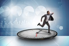 Biznesmen w czasu zarządzania pojęciu obraz stock