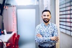 Biznesmen w jego biurze zdjęcie stock