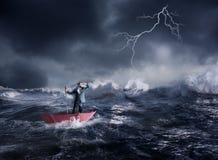 Biznesmen w kryzysie Fotografia Stock