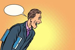 Biznesmen?w ?miechy mężczyzna radosny ilustracji
