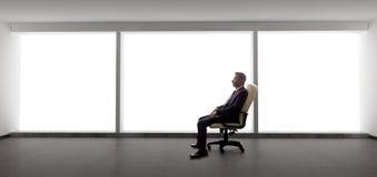 Biznesmen w Pustym biurze obrazy royalty free