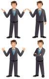 Biznesmen w różnorodnych pozach Zdjęcia Stock