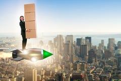 Biznesmen w szybkiej doręczeniowej usługa Obrazy Stock