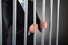 Biznesmen w więzieniu Obrazy Royalty Free