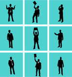 Biznesmen, wektor praca ilustracja wektor