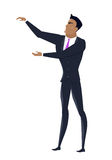 Biznesmen Wektorowa ilustracja w Płaskim projekcie Obrazy Royalty Free