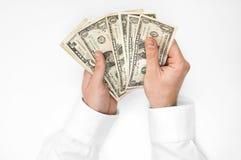 Biznesmena odliczający pieniądze Zdjęcie Royalty Free