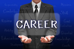 Biznesmen wybiera kariery opcję na jego pojęciu Zdjęcia Stock