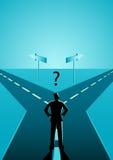Biznesmen wybiera który ścieżka musi iść ilustracji