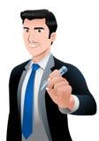 Biznesmen wyjaśnia o zysku biznes Zdjęcie Royalty Free