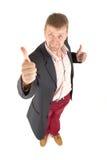 Biznesmen z śmiesznym widokiem zdjęcia royalty free