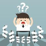 Biznesmen z alternatywnym wyborem, biznesowy pojęcie Obrazy Royalty Free