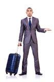 Biznesmen z bagażem Obraz Royalty Free