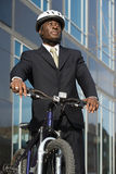 Biznesmen z bicyklem Obrazy Stock