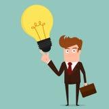 Biznesmen z Dużym pomysłem Zdjęcie Stock