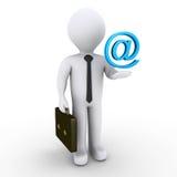 Biznesmen z e-mailowym symbolem Zdjęcie Royalty Free