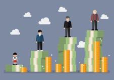 Biznesmen z emerytura pieniądze planem Obraz Stock