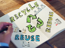 Biznesmen z Energetycznym i Środowiskowym pojęciem Zdjęcie Stock