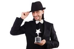 Biznesmen z gwiazdową nagrodą Obrazy Stock