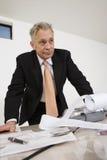 Biznesmen Z kalkulatora papierem fotografia royalty free