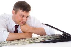 Biznesmen z laptopem zdjęcie royalty free