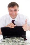 Biznesmen z laptopem zdjęcia royalty free