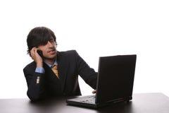 Biznesmen z laptopem Fotografia Royalty Free