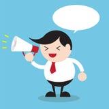Biznesmen z megafonem, Biznesowy pojęcie ilustracja wektor