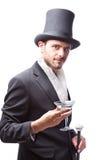 Biznesmen z Odgórnym kapeluszem Zdjęcie Stock