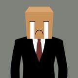 biznesmen z płacz twarzą ilustracji